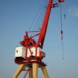 Crane in river port — Stock Photo