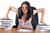 Lady-boss in office — Stock Photo