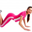 Fitness woman doing exercise — Foto Stock