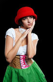 German beer girl — Stockfoto