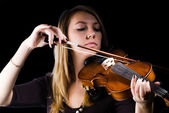 Girl with violin — Foto de Stock