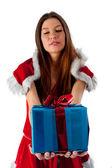 美しいセクシーなクリスマス女性ギフト — ストック写真