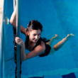 Attractive girl in swimming pool — Stock Photo #9756387