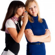 Two gossiping friends - Stock Photo