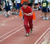 The Running boy — Stock Photo