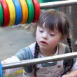 Portrait of beautiful young girl on the playground. — Stock Photo #10200972