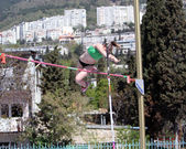 Pole vault competition — Stockfoto