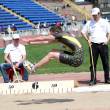 Long jump competition — Stock Photo