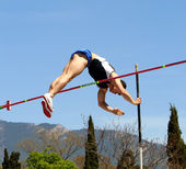 Pole vault competition — Stock Photo