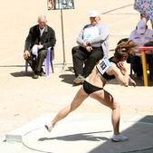 Sitchik ulia competir en el lanzamiento de bala — Foto de Stock