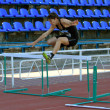 400 meters hurdles competition — Stock Photo