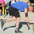 Stock Photo: Lesnik Artem compete in shot put competition