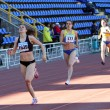 Stock Photo: Girls on start of 400 meters race