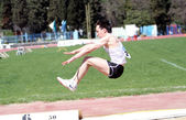 Long jump competitie — Stockfoto