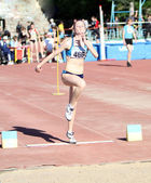 Long jump competition — Foto Stock
