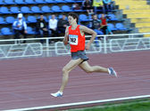Karpenko Aleksandr - the winner of 1500 meters race — Stock Photo