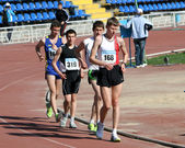 Boys on the 10000 meters race — Stock Photo