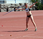 Javelin throw competition — Stock Photo