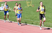 Boys on the 1000 meters race — Stock Photo