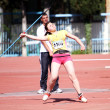 Javelin throw competition - Foto Stock