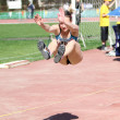 Long jump competition - Foto Stock