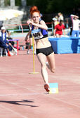 Triple jump competition — Stockfoto