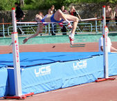 High jump competition — Stock Photo