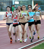 On the 3000 meters race — Stock Photo