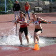 On the 2,000 Meter Steeplechase — Stock Photo
