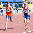 On the 800 meters race - Stock Photo