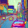 Drawing of Granville Street — 图库照片 #8330965