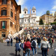 Gathered on Holiday on the Spanish Steps — Stock Photo