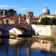 Stock Photo: BasilicSPietro and Ponte Vittorio Emanuele
