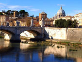 Basilica San Pietro and Ponte Vittorio Emanuele — Stock Photo