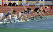 Girls on the start — Stock Photo