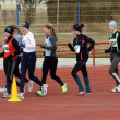 Girls at the 3,000 meters race walk — Foto de Stock