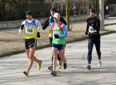 Unidentified men at the 20,000 meters race walk — Foto Stock