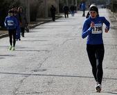 Unbekannte frauen beim 20.000 meter rennen gehen — Stockfoto