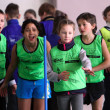 Unidentified children on IAAF Kid's Athletics competition - Foto Stock