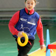 Unidentified girl on IAAF Kid's Athletics competition - Foto Stock