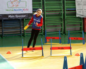 Unidentified girl on IAAF Kid's Athletics competition — Stock Photo