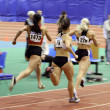 Stock Photo: Unidentified girls on 400 meters dash