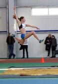 Fedik Ina - on the triple jump — Stock Photo