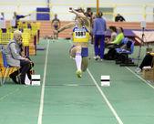 Iastrebova Natalia - on the triple jump — Stock Photo