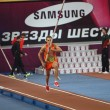 DONETSK, UKRAINE - FEB.11: Dilla Karsten competes in the Samsung Pole Vault Stars meeting — Stock Photo