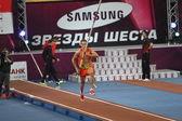 DONETSK, UKRAINE - FEB.11: Dilla Karsten competes in the Samsung Pole Vault Stars meeting — Stock Photo