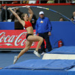 ������, ������: DONETSK UKRAINE FEB 11: Hutson Kylie american pole vaulter compete in the pole vault competition