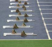 Athletics Starting Blocks — Stock Photo