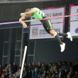 Stock Photo: Borges Lazaro compete in pole vault competition