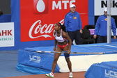 Yarisley Silva - Cuban pole vaulter wins second place — Stock Photo